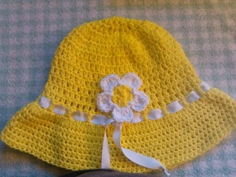 Easy to crochet sun hat / summer hat/ gorra para el sol y verano