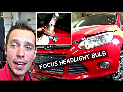 FORD FOCUS MK3 HEADLIGHT BULB REPLACEMENT