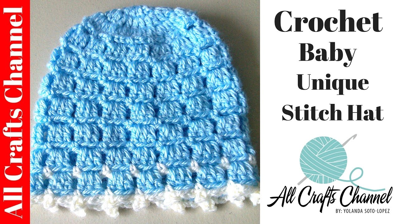 Easy Crochet Stitches Youtube : Crochet Easy and unique stitch hat tutorial - YouTube