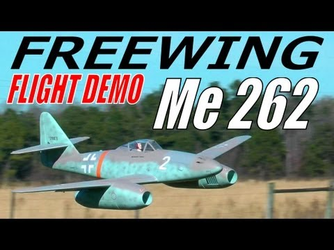 Banana Hobby / Freewing Me 262 EDF Jet Flight Demonstration in HD By: RCINFORMER