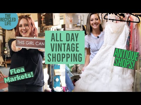 THIRFT WITH US! All day thrifting road trip! The Recycled Life | Country Picking | Thrift Haul