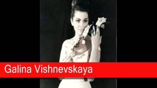 Galina Vishnevskaya: Mussorgsky - Songs and Dances of Death, 'Lullaby'
