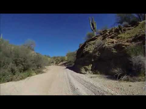 Sandy wash and canyons along Trail 1863, Four Peaks, AZ 03/31/13