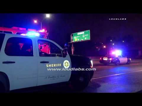 Deputy Involved Crash / Diamond Bar   RAW FOOTAGE