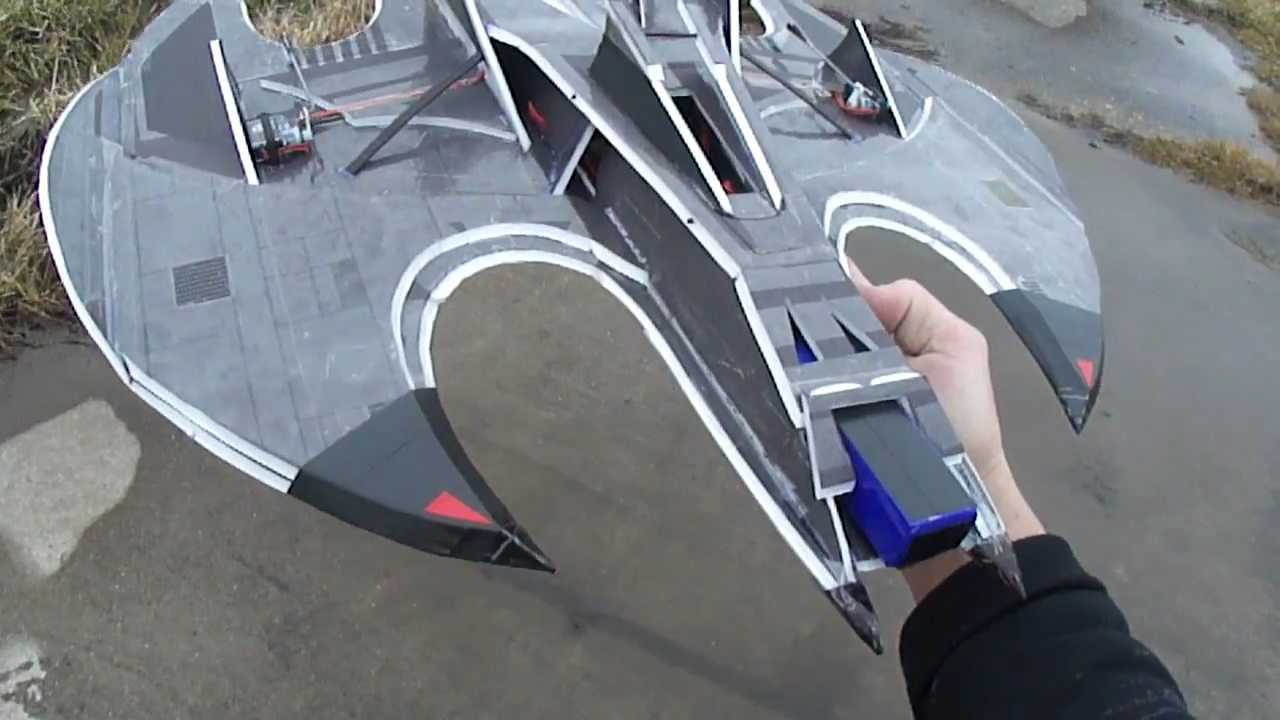 The (BAT-WING) Awesome Scratch built 64mm EDF Jet. For PDF Plans foamconceptjets.com - YouTube
