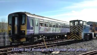 Northern Rail 155346 works 5z55 Neville Hill T&RSMD Brodie Works 30-04-16
