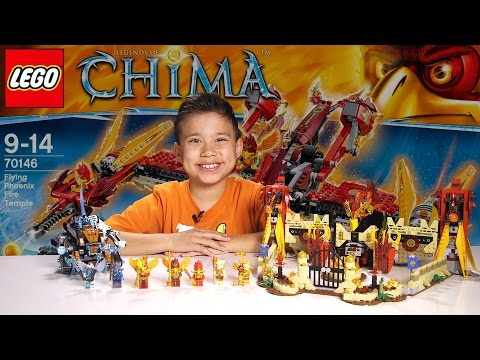 FLYING PHOENIX FIRE TEMPLE - LEGO Legends of Chima Set 70146 Time-lapse Build. Unboxing & Review