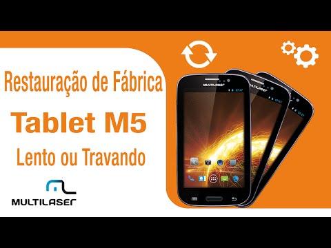 Multilaser  Suporte  Tablet  Restauração de fábrica no tablet M5