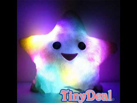 Illuminating LED Colorful Love Plushy Pillow