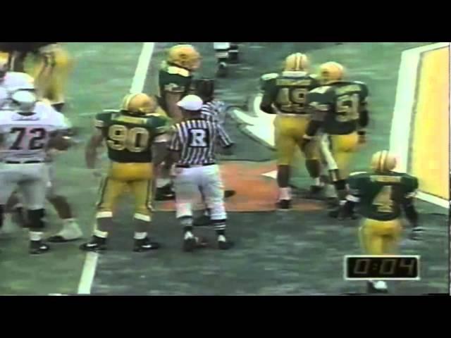 Oregon DE Romeo Bandison sacks WSU QB Drew Bledsoe 9-07-1991