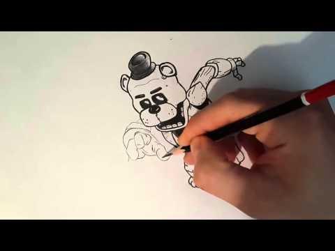 Видео как нарисовать медвежонка карандашом поэтапно