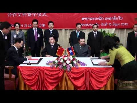 Laos, China ink cooperation deal