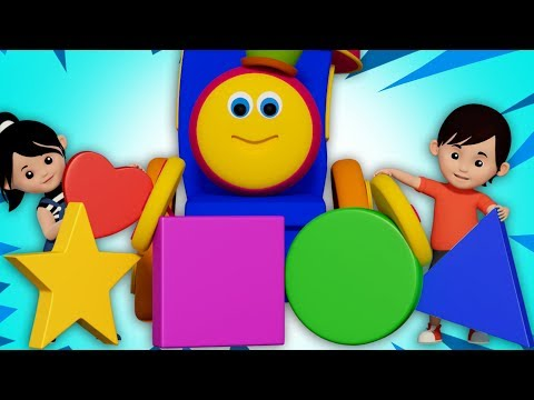 Shapes Rolling Shapes Song Learn Shapes Nursery Rhymes Songs For Child Bob the train