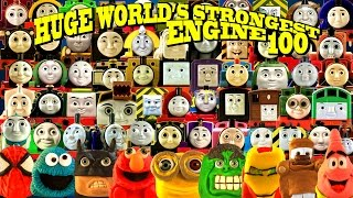 HUGE WORLD'S STRONGEST ENGINE ep 100 64 ENGINES! Thomas and Friends with Play Doh Surprise engines