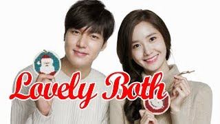 yoona and lee min ho always lovely  and top  cute both