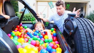 WE TURNED JESSE'S NEW CAR INTO A BALL PIT!!