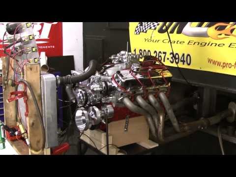 454 Big Block Chevy Live Engine Run
