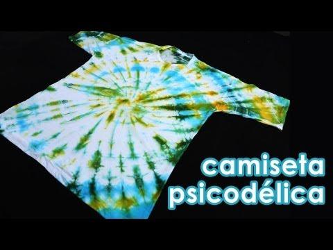 Camiseta psicodélica (como fazer tie-dye) (artesanato)