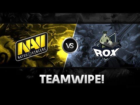 Teamwipe by Na`Vi vs RoX.KIS @ D2L Western Challenge