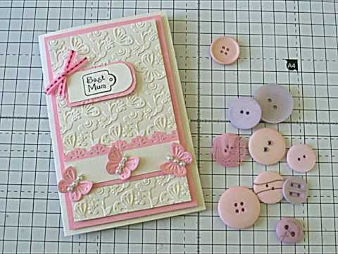 Handmade Cards - Using Bigshot diecuts. nesting dies and embossing folders