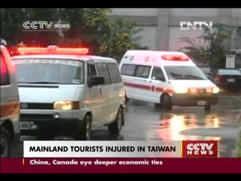 Chinese Mainland  tourists injured in Taiwan