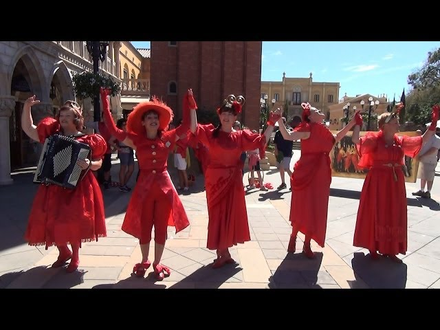 The Ziti Sisters Comedy Troupe Full Show in Italy Pavilion at Epcot - Final Performances 2014