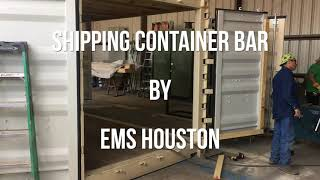 'We Built A Shipping Container Bar' in less than 4 Minutes