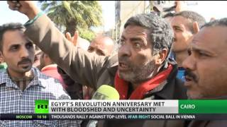 Clashes, tear gas, blasts (Egypt) meets third Revolution Anniversary  1/25/14