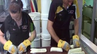 Rock Candy Making at Coffs Candy Kitchen Coffs Harbour, Far North Coast NSW Australia