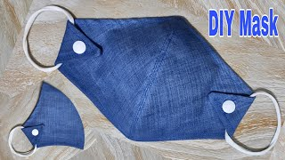 DIY Mask | Face Mask Tutorial From Jeans | Reuse Old Clothes | DIY Jeans