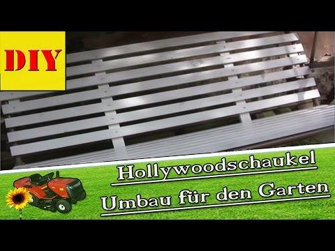 ► Eine Hollywoodschaukel Holz Auflage Bauen - Fast Wie Eine Gartenbank Aus Holz - Hollywood Schaukel