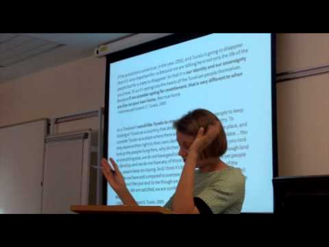 Climate Migration and Place Identities (climate migration / race) - talk by Carol Farbotko