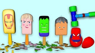 superheroes ice cream finger family song, ice cream finger family song for kids