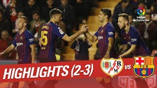 Resumen de Rayo Vallecano vs FC Barcelona 2-3