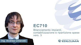 EC710 - Bilanciamento impianti, contabilizzazione e ripartizione spese