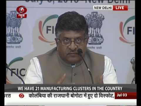 Digital India Campaign: Minister of Telecom & IT Ravi Shankar Prasad addresses FICCI