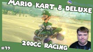 Return of the Luigi Stare - 200cc Mario Kart 8 Deluxe - Mumbles Game Play #79