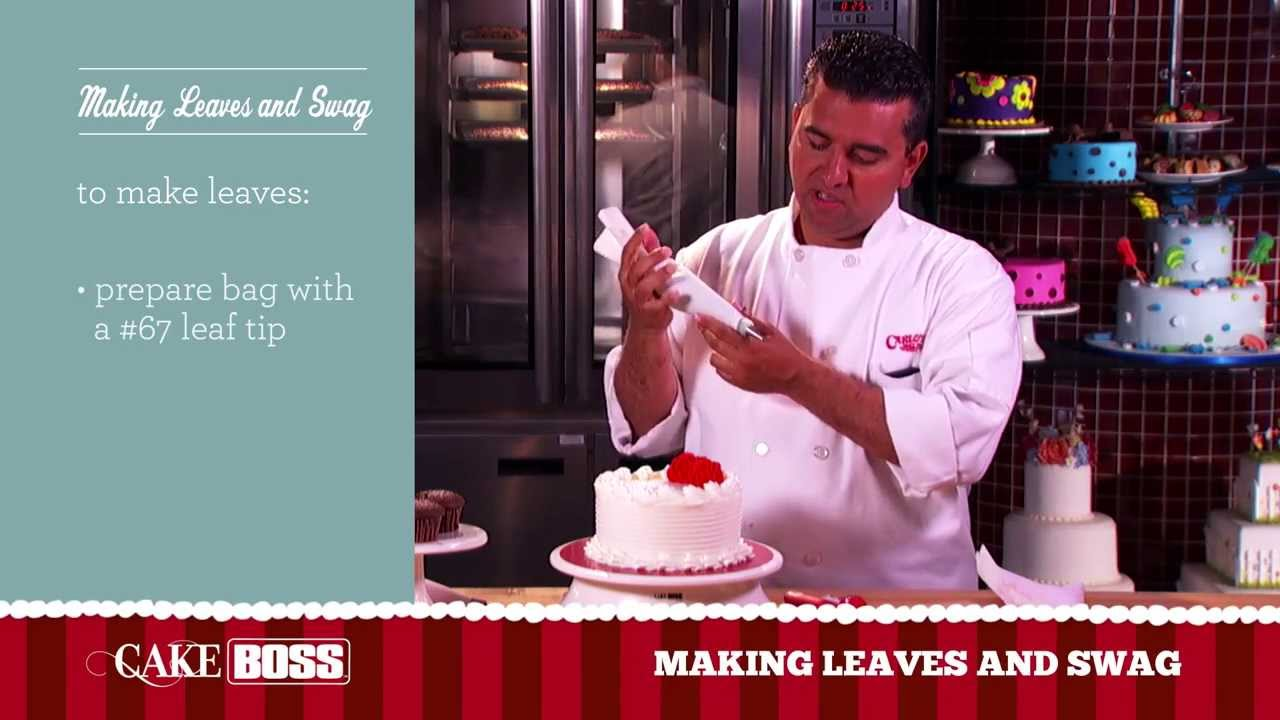 Cake Tv Show Reviews : How To Decorate A Cake with Leaves and Swag - Cake ...