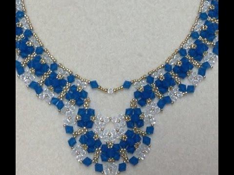 Crystal Diamonds Necklace Tutorial