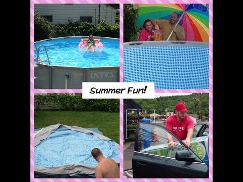 New pool set up and review! Intex pool 16x48 summer 2013