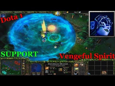 VENGEFUL SPIRIT SUPPORT  - Dota 1 (9223 MMR) HARD GAME