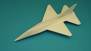 How To Fold An Advanced Origami F-16 Falcon Paper Airplane That Will Fly  By: Ken Hmoob