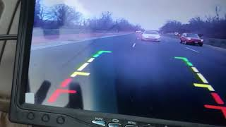 "Road test of my backup camera - 7"" TFT wifi color monitor with IR night vision"