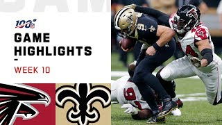 Falcons vs. Saints Week 10 Highlights | NFL 2019