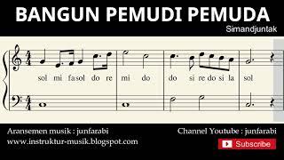 not balok bangun pemudi pemuda - lagu wajib nasional - doremi / solmisasi
