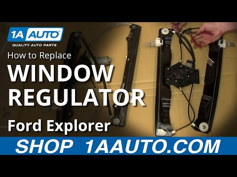 How To Install Replace Front Window Regulator 2006-10 Ford Explorer