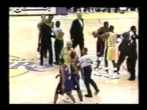 Kobe Bryant Got Punched  twice By Chris Childs