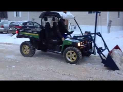 John Deere Gator Plow >> Home made john deere gator snow bucket - YouTube