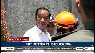 Presiden Jokowi Tiba Di Reruntuhan Hotel Roa Roa Palu  from metrotvnews