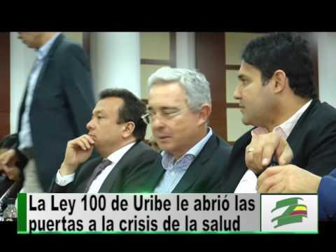Senador Álvaro Uribe es abucheado por defender la Ley 100
